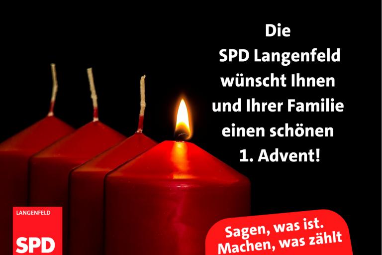Read more about the article Bürgergrüße – Ich wünsche Ihnen und Ihrer Familie einen schönen 1. Advent!