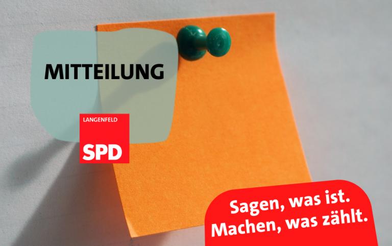 Read more about the article SPD Mitteilung – SPD geht keine feste Kooperation/Koalition ein!